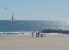 Ciel Palavas-les-Flots 34250 Plage par un beau week-end d'octobre