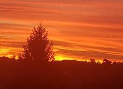 Ciel L'Isle-d'Abeau 38080 Coucher de soleil
