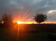Ciel Vieux-Berquin 59232 Ce 8/10/17 superbe lever de soleil