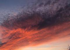 Ciel Lempdes 63370 Fin de journée colorée
