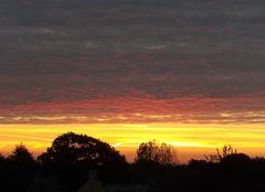 Ciel Saint-Servant 56120 Soleil levant à Rougentin