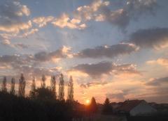 Ciel Saint-Privat-la-Montagne 57855 Lever du soleil sur St Privat ....rouquine...