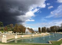 Ciel Saint-Cloud 92210 Orage sur le parc de St Cloud