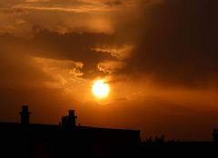 Ciel Niort 79000 Coucher de soleil de ce 15 octobre 2017