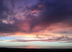 Nuages Bonneville-la-Louvet 14130 Ciel mauve en Pays d?Auge
