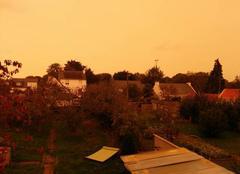 Ciel Auray 56400 Morbihan, 10h, ciel ambré