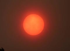 Ciel Saint-Gildas-des-Bois 44530 Soleil rouge