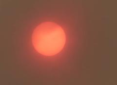 Ciel Perros-Guirec 22700 Le soleil rouge de la côte de granit rose