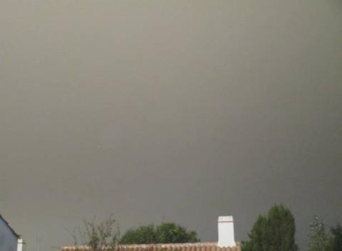 Photo du ciel au dessus de la maison a l'Epine