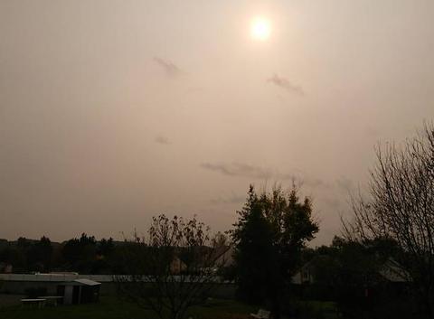 Ciel jaune en Loire-Atlantique