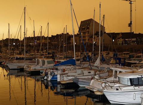 Phénomène météo : ciel jaune