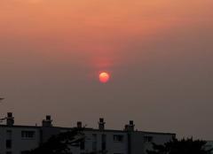 Ciel Niort 79000 Coucher de soleil de ce 16 octobre 2017