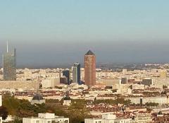 Ciel Lyon 69005 Pollution sur Lyon