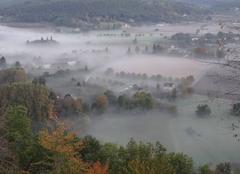 Brouillard Domme 24250 Vallée de la Dordogne