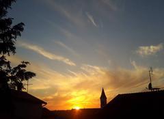 Ciel Bourg-de-Thizy 69240 Coucher de soleil