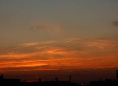 Ciel Niort 79000 Coucher de soleil de ce 17 octobre 2017