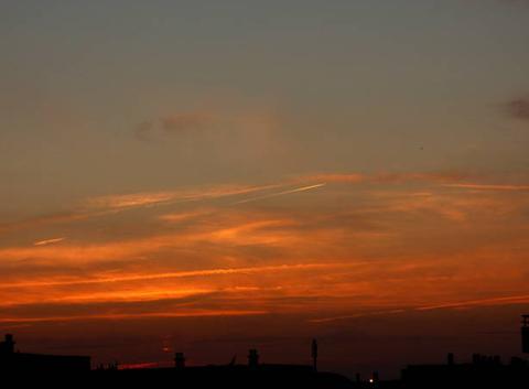 Coucher de soleil de ce 17 octobre 2017