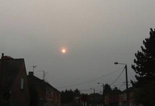 Ciel Courcelles-les-Lens 62970 Soleil voilé