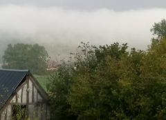 Nuages Hondouville 27400 Nuage bas dans la vallée après la pluie