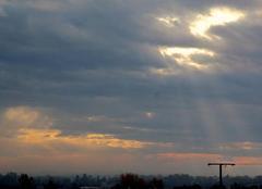 Ciel Saint-Lezer 65500 Ciel de St Lézer ce mercredi 18 octobre 2017.