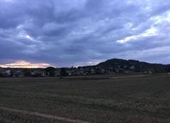 Ciel Mours-Saint-Eusebe 26540 Ciel chargé au couchant