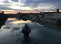 Ciel Romans-sur-Isere 26100 Douces couleurs sur les quais au couchant