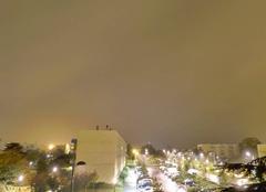 Ciel Niort 79000 Nuit pluvieuse sur la ville de Niort