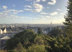 Ciel Paris-18 75018 Soirée ventée à Montmartre