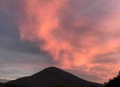 Insolite Bargème 83840 Coucher de soleil sur la montagne