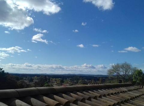 Un beau soleil avec les nuages