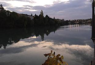Ciel Romans-sur-Isere 26100 Quais d'Isère au couchant