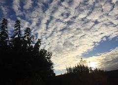 Ciel Mours-Saint-Eusebe 26540 Des moutons dans le ciel et le vent du Nord en fin d'après-midi