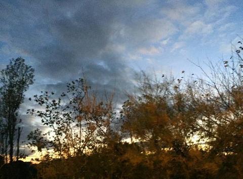 Soleil couchant, un soir d'automne