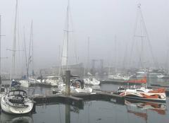 Brouillard Arzon 56640 Brouillard sur le port du Crouesty