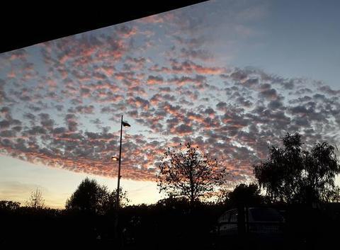 Alto cumulus au couchant