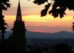 Ciel Freiburg im Breisgau Coucher de soleil sur Freiburg