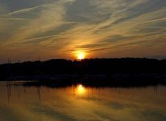 Ciel Carquefou 44470 Soleil couchant sur Port Jean