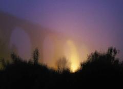 Ciel Le Blanc 36300 Brouillard matinal au viaduc du BLANC (Indre).
