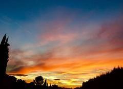 Ciel Castelnau-le-Lez 34170 Coucher de soleil sur Castelnau