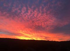 Ciel Charnay 25440 Couchée de soleil