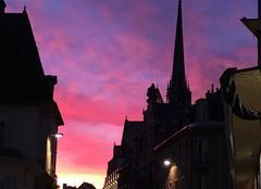 Ciel Dijon 21000 Ciel en feu à Dijon