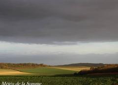 Ciel Saint-Gratien 80260 Une fin d'après-midi ensoleillée sur la Somme ...