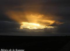 Ciel Forceville-en-Amienois 80560 Coucher de soleil ....