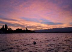Ciel Corsier Splendide coucher de soleil sur le Léman