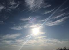 Ciel Sampzon 07120 Fumée de nuages