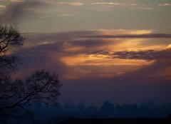 Ciel Barenton 50720 Lever de soleil a La Boullerie