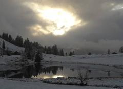 Neige La Clusaz 74220 Premier saupoudrage de neige