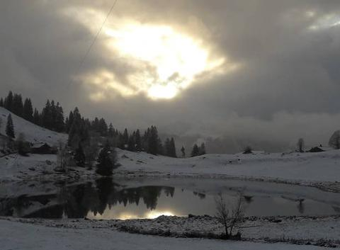 Premier saupoudrage de neige