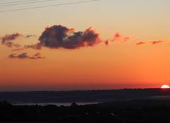 Ciel Bonnemaison 14260 Lever de soleil,brume sur la vallée de l'Orne