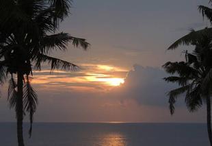 Mer Trivandrum Sun  and the sea
